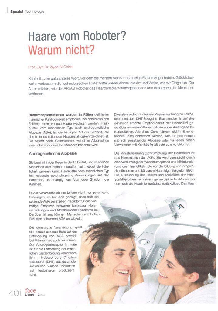 Interview ARTAS Roboter Haarwiederherstellungssystem